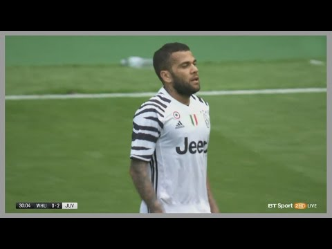 Dani Alves vs West Ham (Away) 07/08/2016 | Debut for Juventus | English Commentary | HD