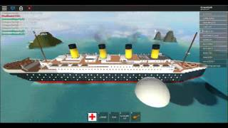 Roblox Sinking ship simulator (The Titanic arrived)