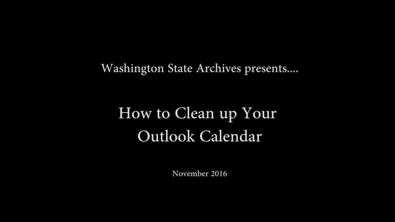 How to Clean Up Your Outlook Calendar
