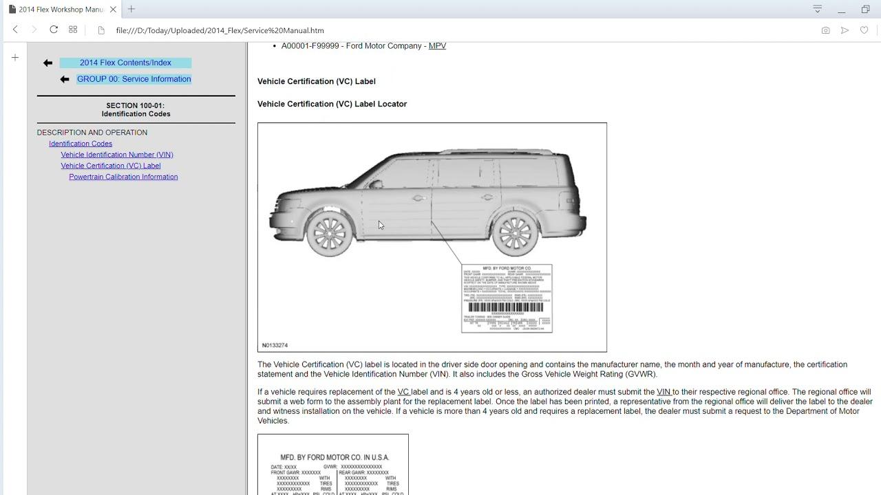 2014 Ford Flex Workshop Manual Electrical Wiring Diagram Get Free