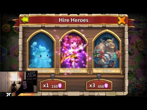 Rolling 80,000 Gems Hero Collector IGG Being STINGY Today Castle Clash