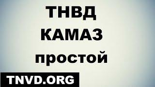 тНВД КАМАЗ простой