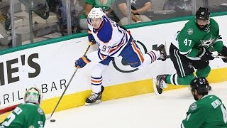 McDavid scores his first NHL goal on Lehtonen