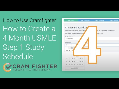 How To Build a 4 Month USMLE Step 1 Study Schedule