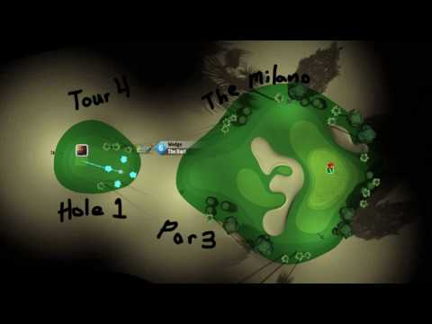 Golf clash maps and course fairways, green.the milano hole 1 par 3