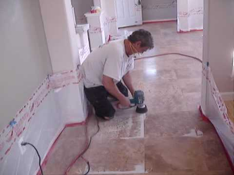 Diy Delipping Grinding Flattening And Honing Travertine