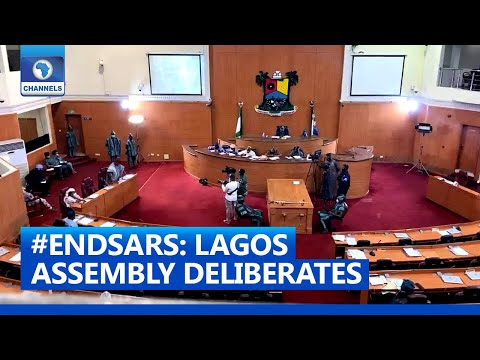 #EndSARS: Protesters Head Into Lagos Assembly For Negotiations