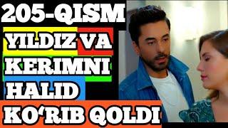 Qora Niyat 205 qism uzbek tilida turk film кора ният 205 кисм