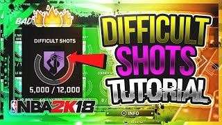 HOW TO UNLOCK DIFFICULT SHOTS ON HALL OF FAME FAST NBA 2K18