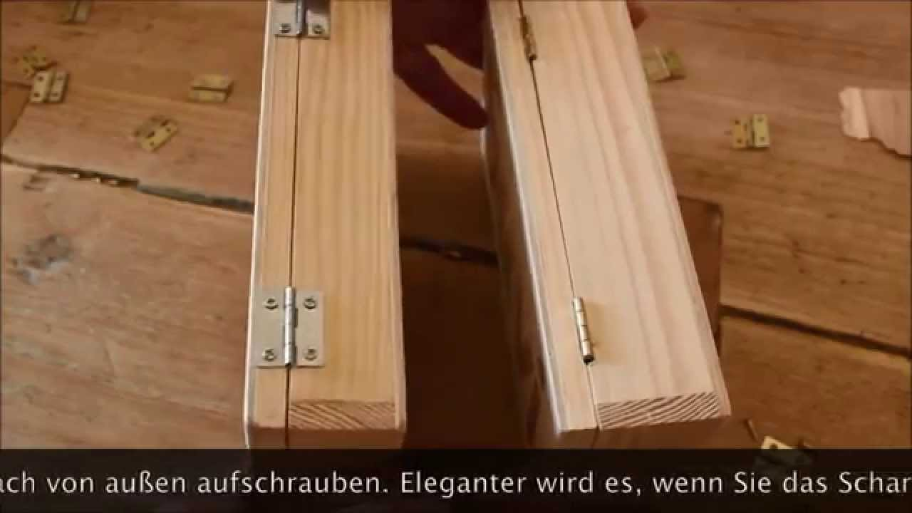 film 5 ein einfaches scharnier einlassen youtube. Black Bedroom Furniture Sets. Home Design Ideas
