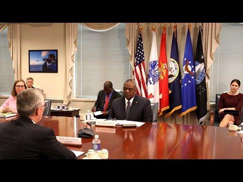 NATO Secretary General with 🇺🇸 US Secretary of Defense Lloyd J. Austin III, 07 JUN 2021