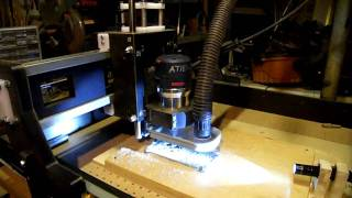 Home Made Cnc Router Milling Aluminum, Celtic Cross Part 1: V-carve!