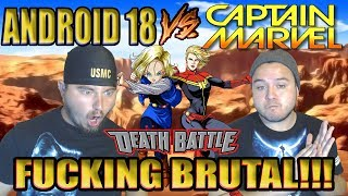 BLONDE BATTLE!!! Android 18 VS Captain Marvel Death Battle REACTION