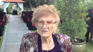 Grandma gives a great testimonial about the Wedding performance