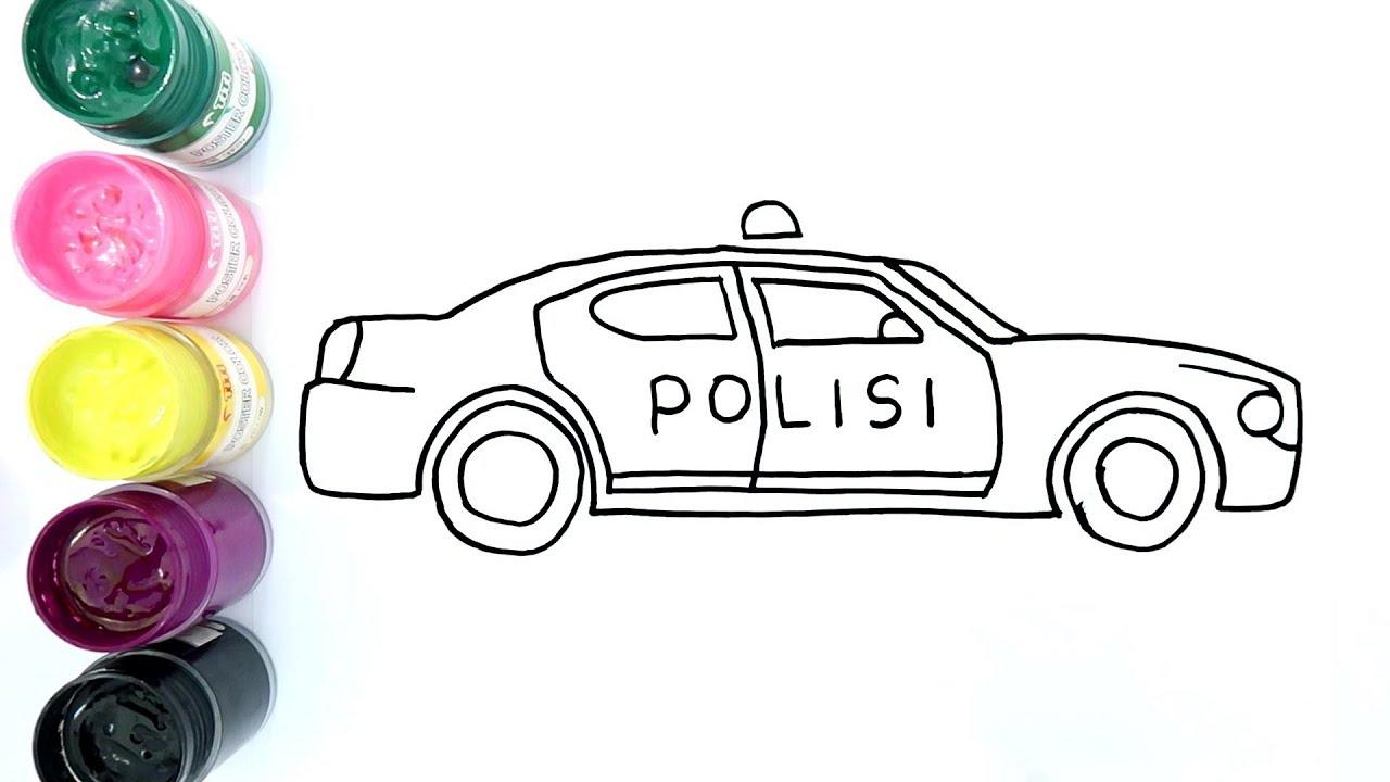 Gambar Mewarnai Mobil Polisi - gambarkakak