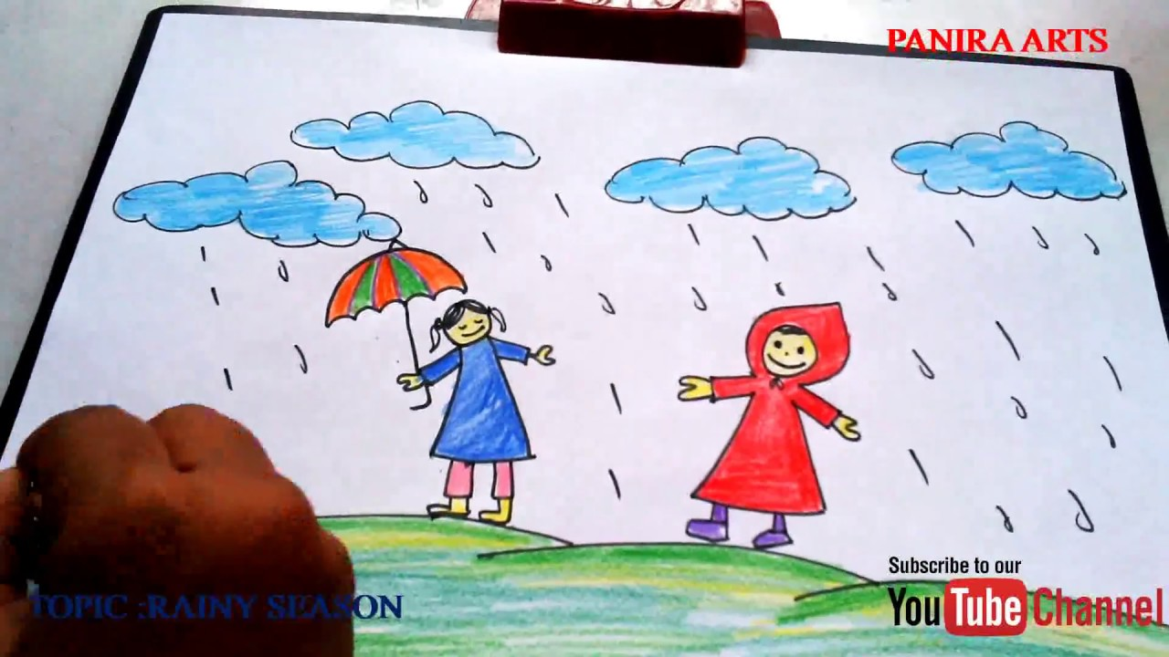 It is an image of Amazing Rainy Day Drawing