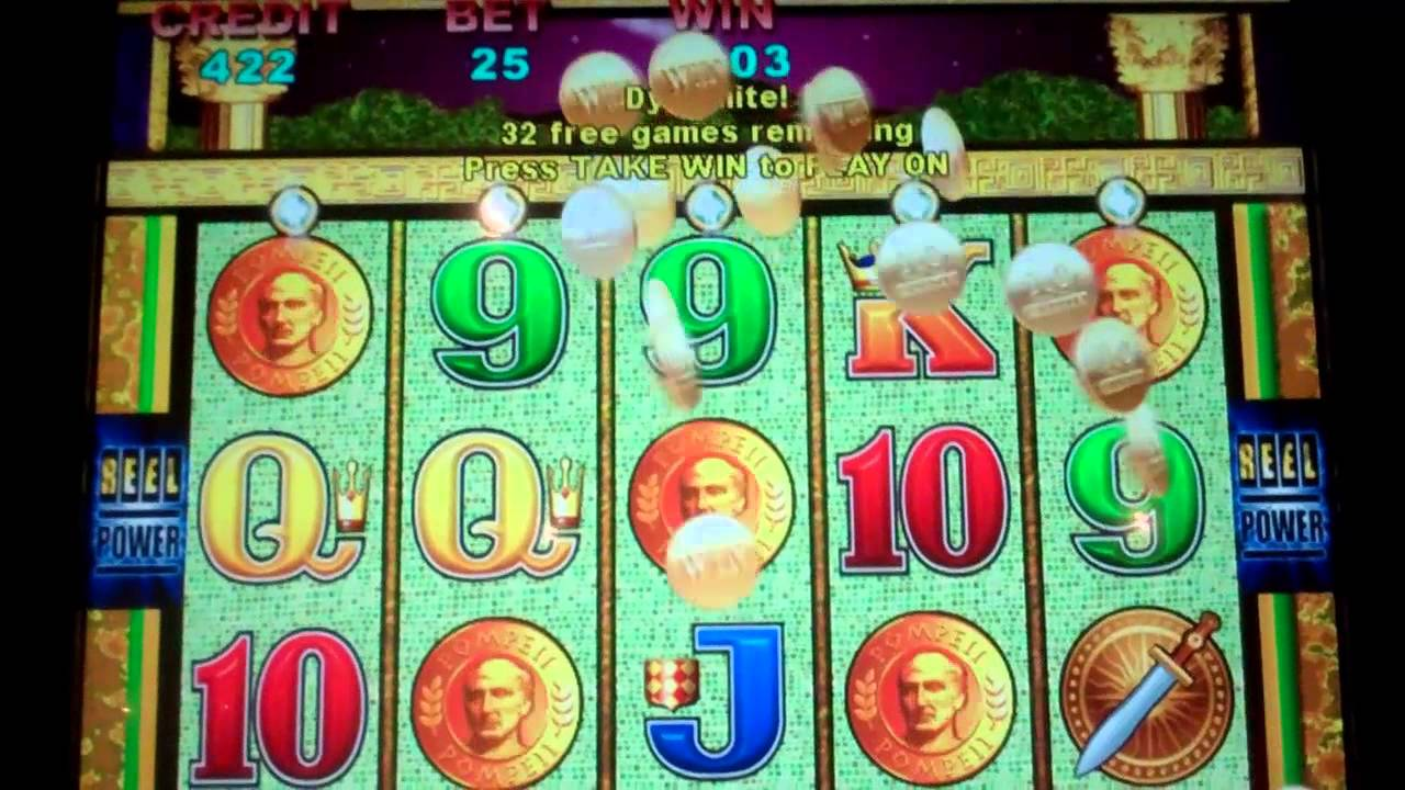 Pompeii Slot Machine Bonus 2 Retriggers 45 Free Spins