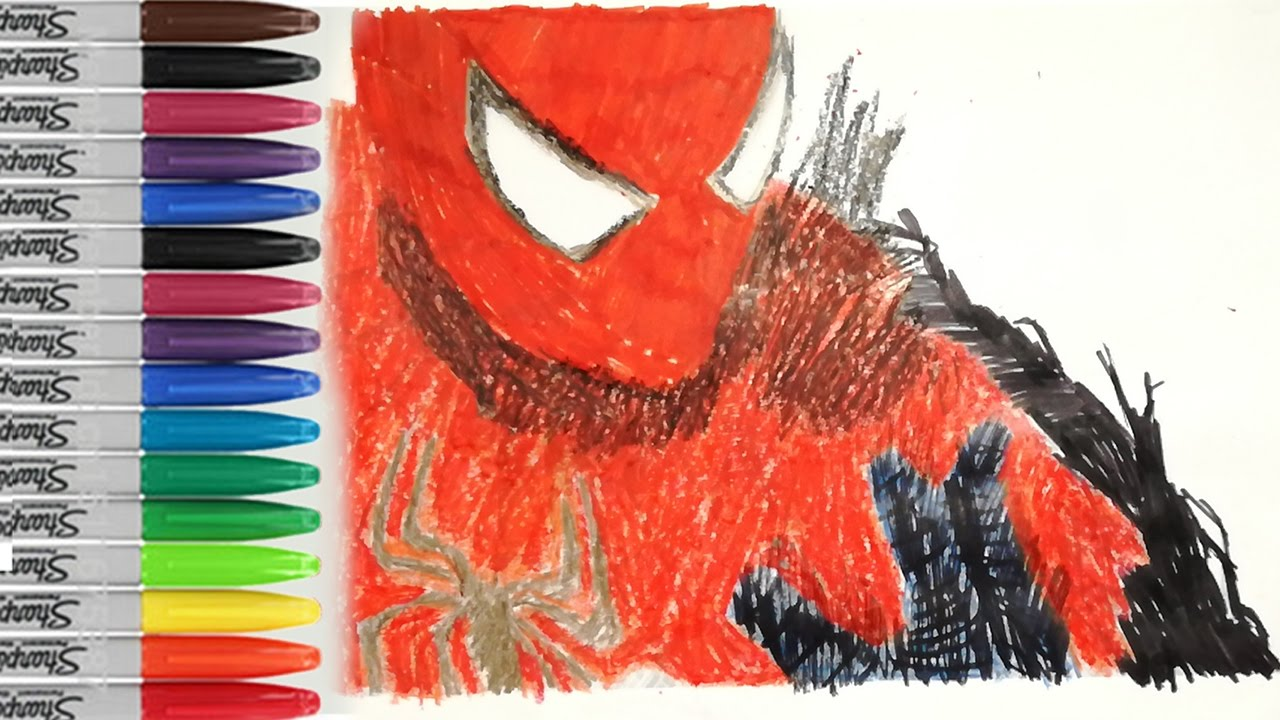 spiderman coloring pages spiderman becomes black spiderman sailany