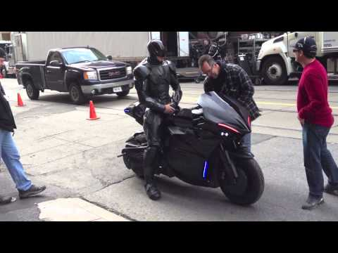 Robocop 2012 Toronto Filming See The Motorcycle Youtube