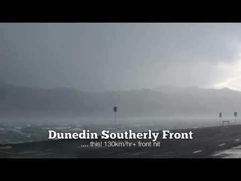 130km/hr + southerly front hitting Otago Peninsula