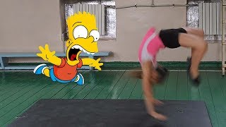 Лучшая Зарядка это Танец!!! Черлидинг для Детей Первый Фляк Cheerleading for Children