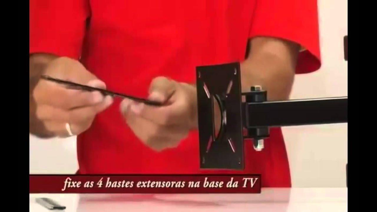 Como montar suporte articulado para tv brasforma sbrp 140 - Soporte articulado tv ...