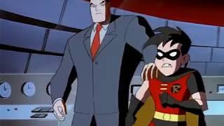 Superman saves Bruce Wayne from Brainiac