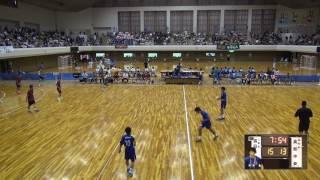 5日 ハンドボール男子 あづま総合体育館 Bコート 四日市工業×高知中央 1回戦 2