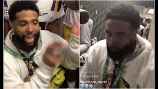 Odell Beckham Dancing Crazy In LSU Locker Room After Winning National Title