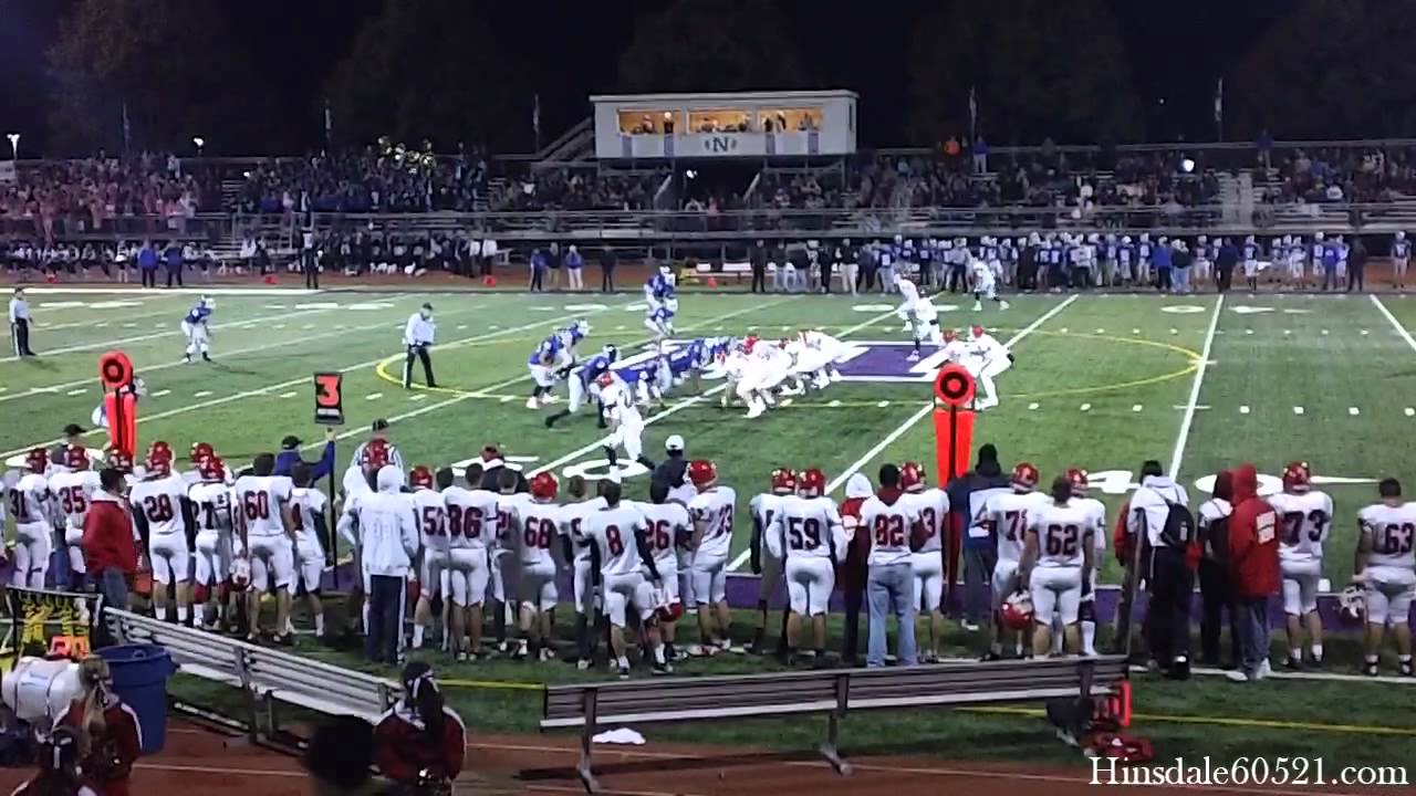 Hinsdale Central Football Highlights At Downers Grove North Youtube