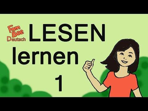 Learn reading in German, part 1