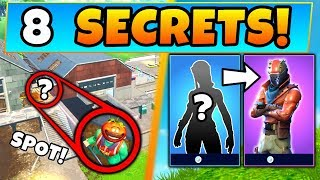 Fortnite: ONLY TRUE PLAYERS KNOW These 8 SECRETS ft. Skins & More! (Battle Royale Gameplay)