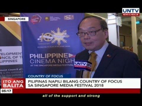 Pilipinas, napili bilang country of focus sa Singapore Media Festival 2018