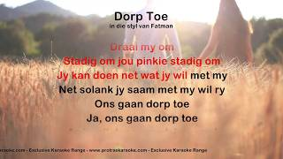Dorp Toe - ProTrax Karaoke Demo