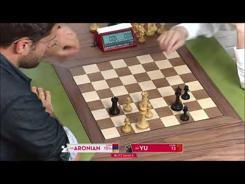 GM Aronian (Armenia) - GM Yu (China) 5 Min + PGN
