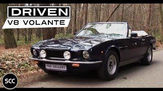 Aston Martin V8 Volante 1986 - Full test drive in top gear - Engine sound | SCC TV