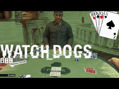 30,000$ POKER WIN - Watch Dogs Texas Holdem Gameplay High Stakes City Games
