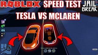TESLA BEATS MCLAREN?!! | Roblox Jailbreak VEHICLE SPEED TEST ATV VOLT BIKE