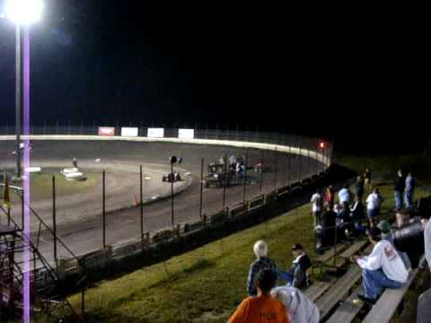 WOW Crazy Flipping, rolling and crashing. Devin Kline #15 Crashes at English Creek Speedway