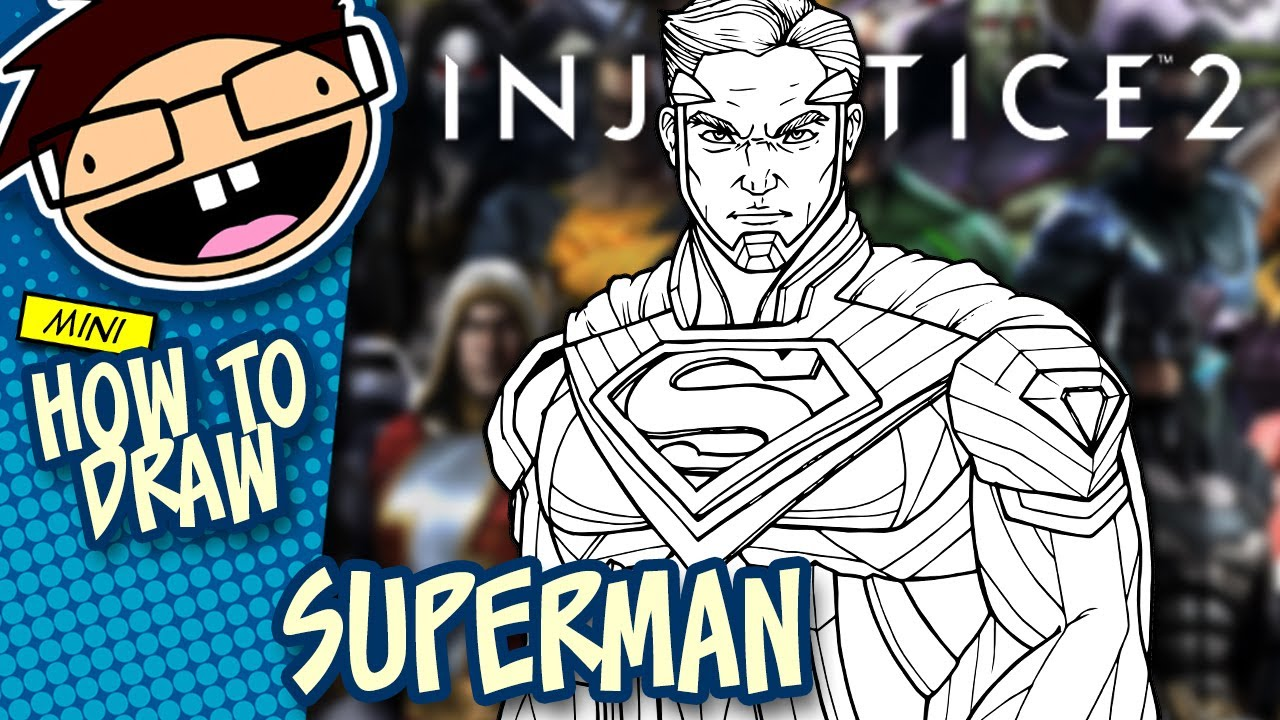 how to draw superman  injustice 2