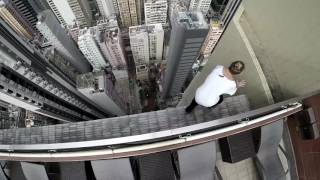 High-rise and shine! Russian daredevil shares his stomach-churning morning workout
