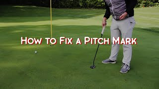 How to Fix Pitch Marks