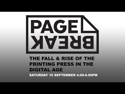 Panel Discussion: THE FALL & RISE OF THE PRINTING PRESS IN THE DIGITAL AGE