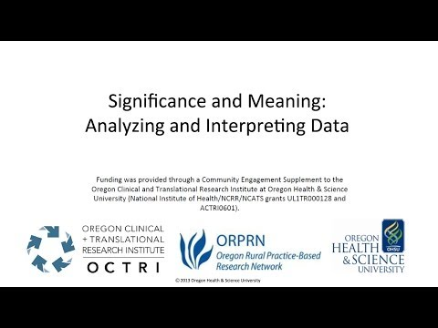 Significance and Meaning: Strategies for Analyzing and Interpreting Research Data