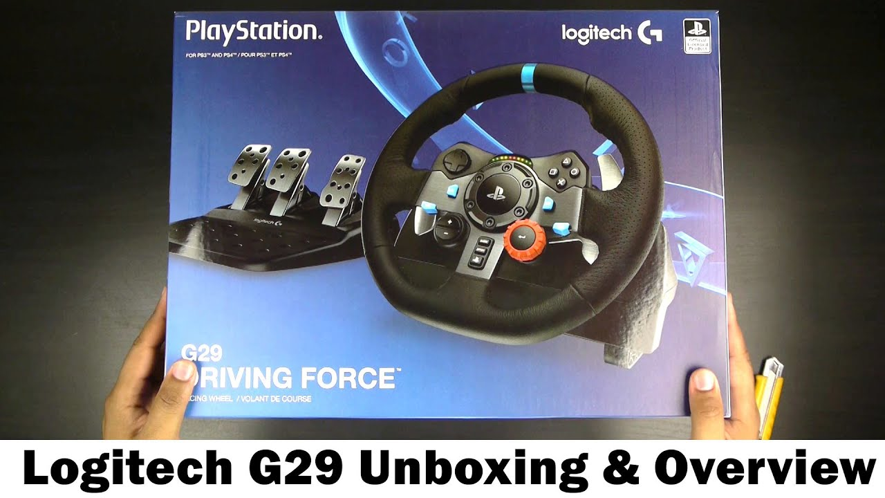 1b96fd28c9c Logitech G29 Driving Force Racing Wheel - Unboxing & Over - YouTube
