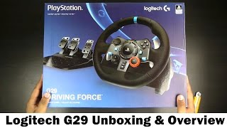 Logitech G29 Driving Force Racing Wheel - Unboxing & Over