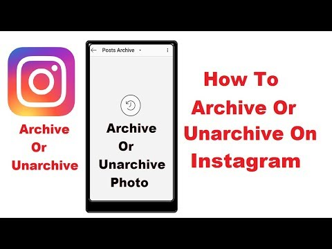 How to go into your archive on instagram