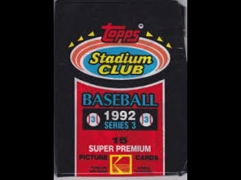Bens Pack A Day 89 1992 Topps Stadium Club Series 3 Baseball