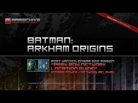 Batman: Arkham Origins (PS3) Gamechive (Most Wanted 1/9: Enigma, Park Row Network)