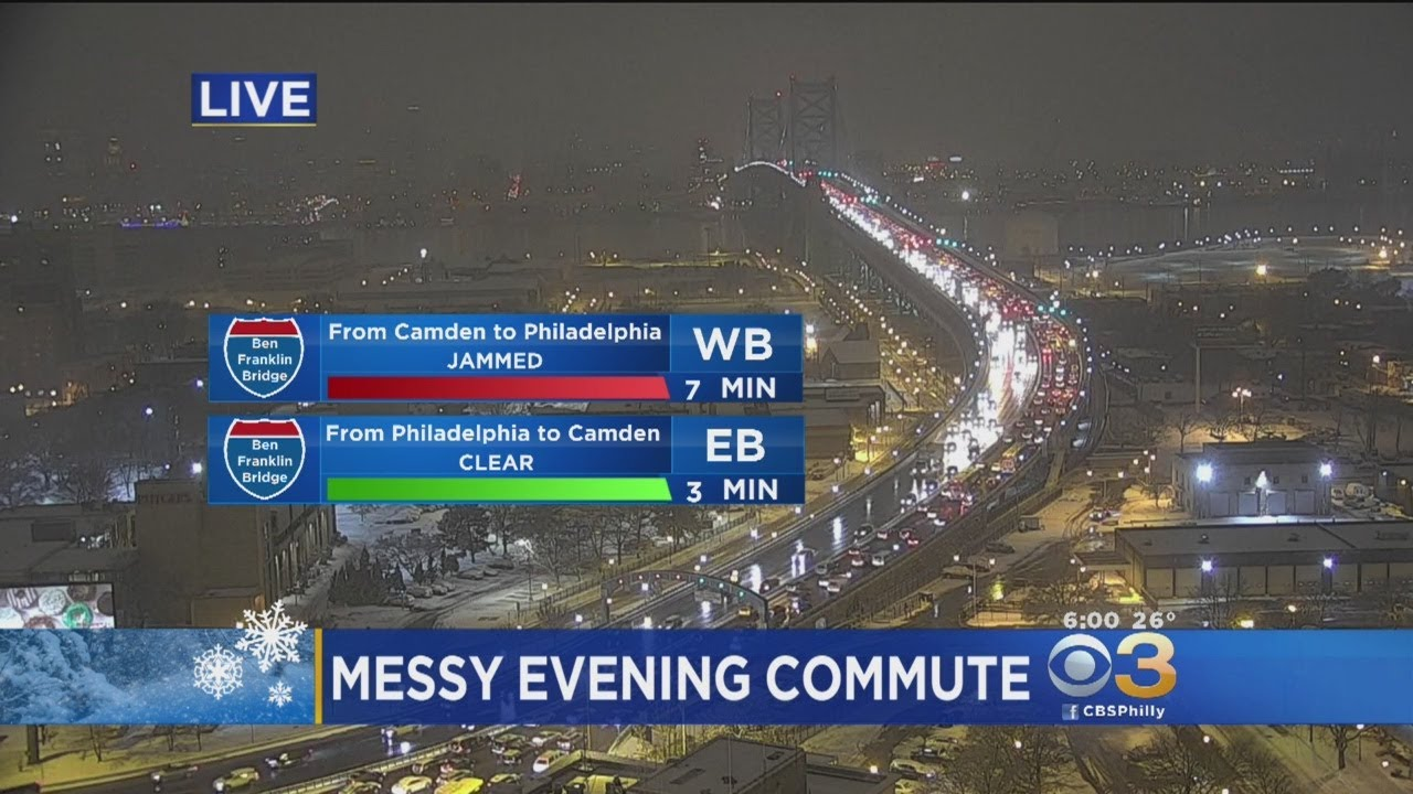 Messy Evening Commute In Snow Weather
